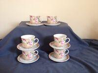 Tea set 6 cups & saucers