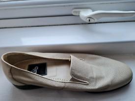 Pair of stylish cream shoes