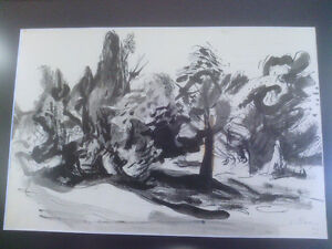 Ernst Paar Signed Original Drawing-Watercolour, Ink North Shore Greater Vancouver Area image 6