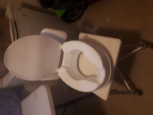 Raised toilet seat and shower chair