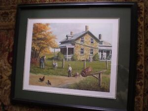 """Roger Witmer """" Little Red Wagon """" Limited Edition Print Kitchener / Waterloo Kitchener Area image 1"""