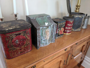 Collection of antique tins