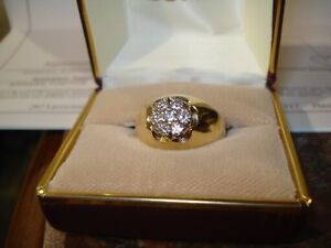 Mens Beautiful Diamond Cluster Ring