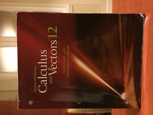McGraw-Hill Ryerson Calculus and Vectors 12
