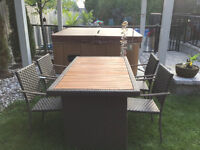 Patio Table with Teak Table Top