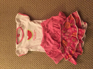 Baby girl top and skirt outfit