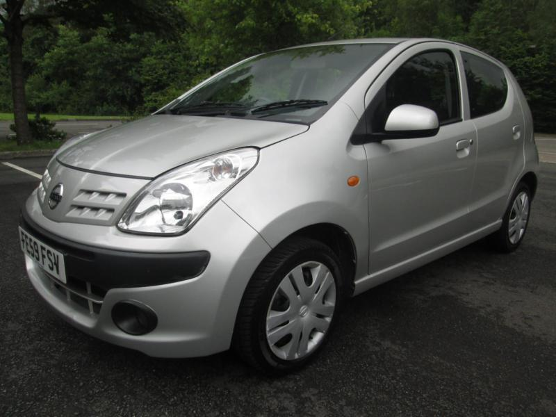 09/59 NISSAN PIXO 1.0 N-TEC 5DR HATCH IN MET SILVER WITH ONLY 62,000 MILES