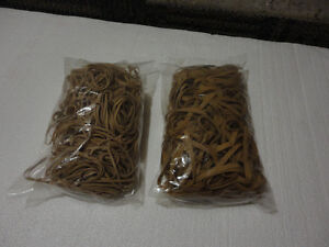 Lot of 2 large packs of elastic bands rubberbands