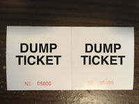 5,000 Generic Dump Tickets (perforated & numbered)