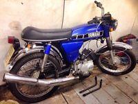 Yamaha fs1e 1989 yb100 registered as 50cc fizzy