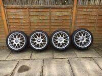 BBS RC 323 17x7.5 ET35 4x100 Alloy wheels Rare VW golf polo Corrado mini Vauxhall etc