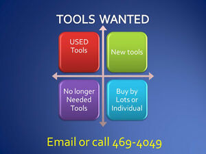 to purchase new or used tools