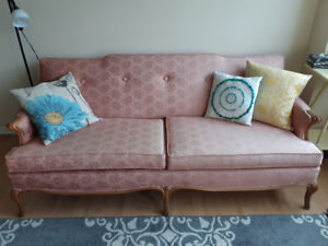 Peach/Coral couch and chair