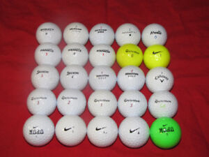 25 golf balls for $20. Near perfect shape, incl. premium brands
