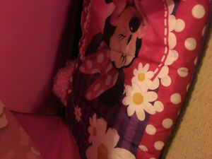 Minnie Mouse tent with matching sleeping bag