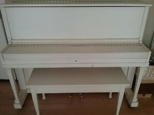 Antique Piano with Bench