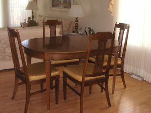 SOLID WALNUT Dining Room Set - SEATS 4 to 12 - EXCELLENT COND.