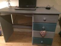 Shabby Chic pine desk / dressing table
