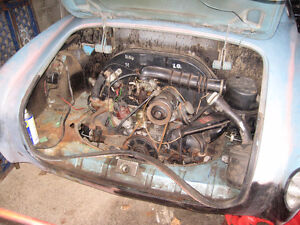 1968 VW KARMAN GIA PROJECT CAR FOR PARTS /WHOLE AS IS