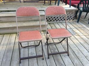 Lot Vintage Metal Chairs From 1970's Made In Ontario Retro