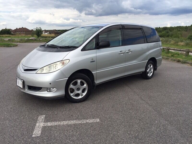 toyota estima hybrid 2 4 petrol 4x4 awd automatic 8 seater 1 year mot 62k only uk logbook in. Black Bedroom Furniture Sets. Home Design Ideas
