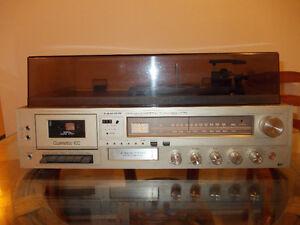 RECEIVER Realistic table tournante tuner tape casette et 8 track