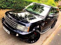 **CLEAN** 2007 RANGE ROVER SPORT HSE 2.7 TDV6 BUCKINGHAM BLUE AUTO 4X4 SUV