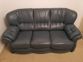 3 Seater and 2.no single seater leather sofa set