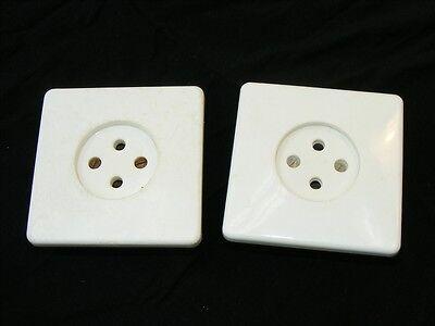 Old Socket White Flush Can Flush-Mounted Loft Design Type Deco Vintage