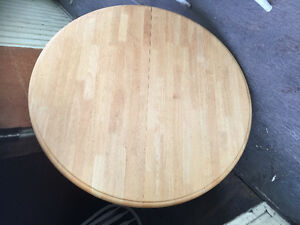 Beautiful light wood rounded table