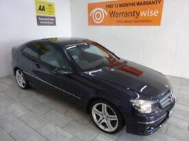 BLACK ERCEDES-BENZ CLC CLASS 1.8 CLC180 KOMPRESSOR SPORT **from £134 per month**
