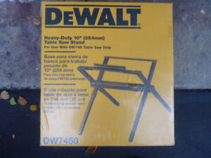 Dewalt 10 inch Table Saw Stand
