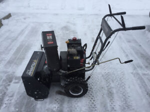 NICE DEPENDABLE TWO STAGE GAS SNOWBLOWER
