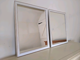 Mirrors pair wooden frame