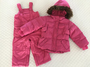 Girls babyGap Pink Winter Coat & Pants 2 yrs
