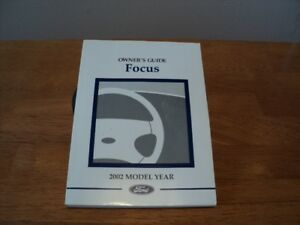 2002 Ford Focus owners manual