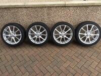 Mazda MX5 alloys with winter tyres.