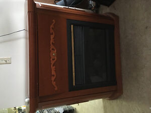 Beautiful electric fireplace for sale.