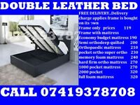 **BRAND NEW DOUBLE SINGLE AND KING SIZE STiORAGE LEATHiER BED**