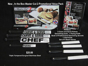 New , In the Box Master Cut 2 Promotional Value Pack ($20)