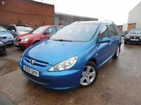 PEUGEOT 307 SW SE 2.0 DIESEL 7 SEATER ONE OWNER (spares and repairs)