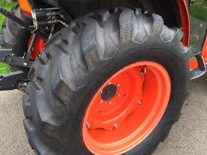 "Set of ""like new"" L-Series Kubota tires"
