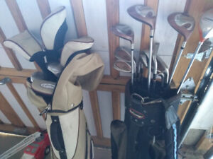 2 Sets of used GOLF Clubs in 2 Bags
