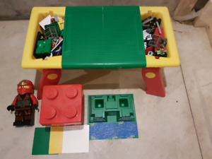 Lego lot. Lego portable table with base plates and more.