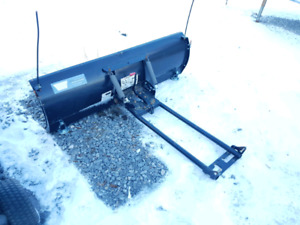 """WARN 60"""" ATV plow. Top quality build with adjustable skis."""
