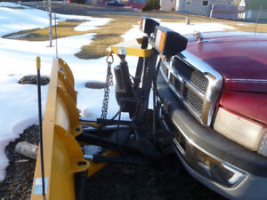 1998 Dodge Power Ram 1500 4X4 with 7ft. Fisher Electric Plow