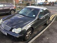 2002 Mercedes C180 Elegance Auto-spares or repair xmas runner