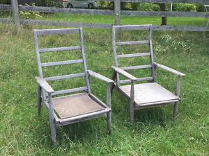 2 Teak Andirondack Chairs Peterborough Peterborough Area image 1