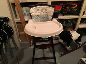 Solid Wood Carters Brand High Chair