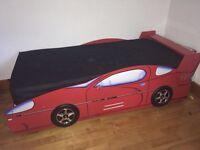 Racing Car Bed & Mattress